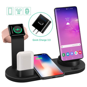 4 in 1 Wireless Fast Charging Station For iPhones, Apple Watch And AirPods