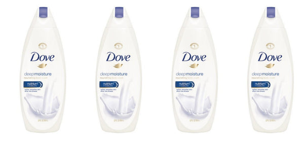 4 bottles of Dove body wash