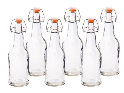 Pack of 6 Glass Home Brewing Bottles System