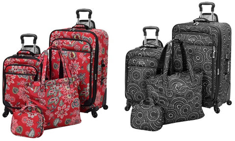 Waverly Boutique Softside Spinner Luggage Set (4-Piece)