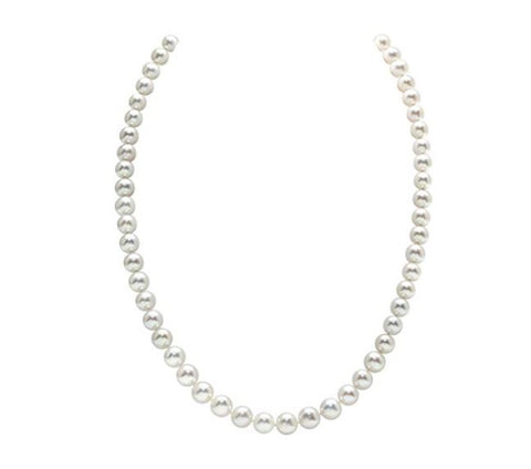 THE PEARL SOURCE AAA Quality Round White Freshwater Cultured Pearl Necklace