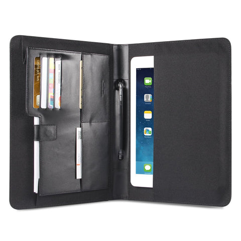 Genuine Leather Portfolio Personal Organizer