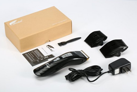 Cordless haircut machine and accessories