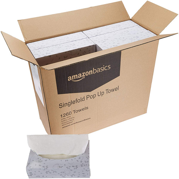 18 Boxes of AmazonBasics Paper Towels