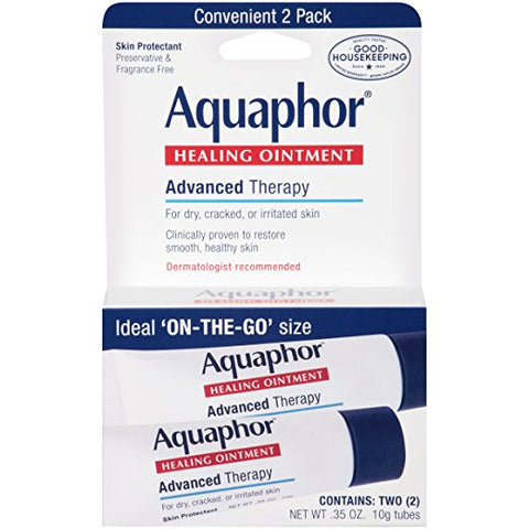 Aquaphor Advanced Therapy Healing Ointment Skin Protectant To Go Pack, 2-0.35 Ounce Tube