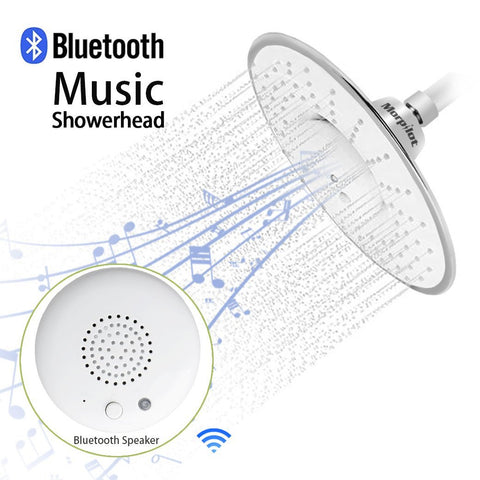 Shower head with built in Bluetooth speaker