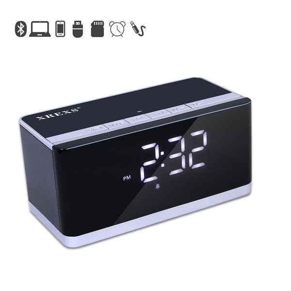 Alarm Clock + Bluetooth Speaker + FM Radio