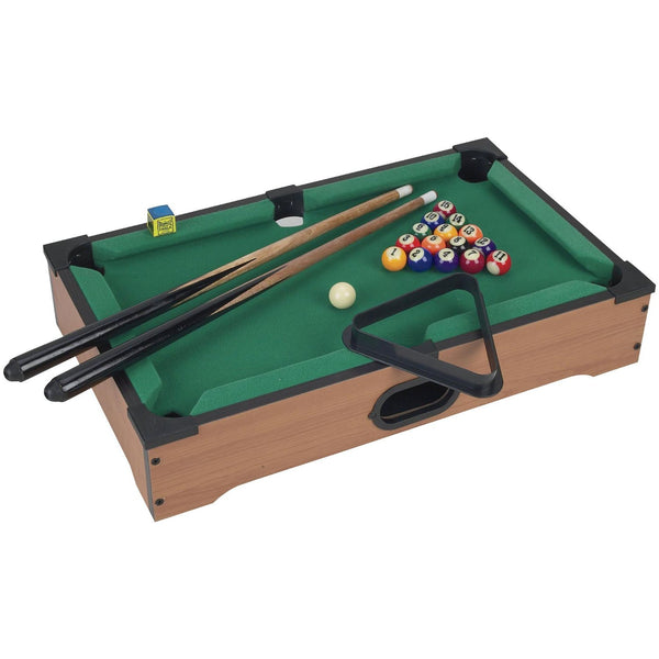 Mini Table Top Pool Table with Cues, Triangle and Chalk