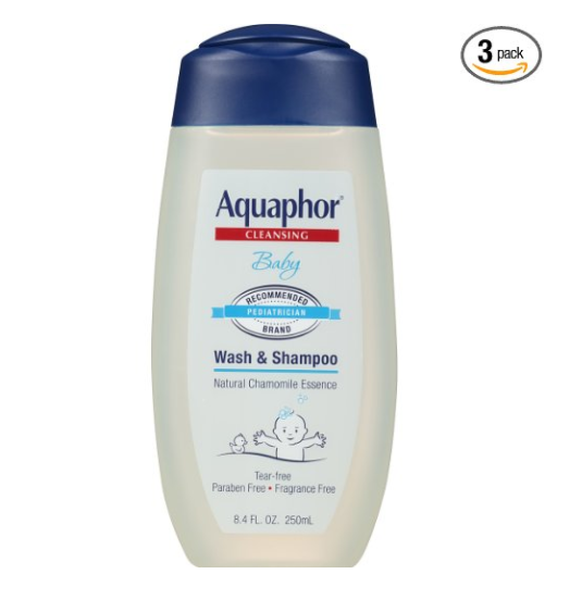 Pack of 3 Aquaphor baby wash & shampoo