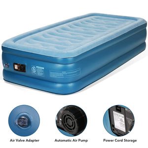 Inflatable Airbed with Built-in Electric Pump And Storage Bag