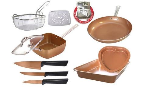 Nonstick Cookware, Bakeware, and Knife Set (11-Piece)