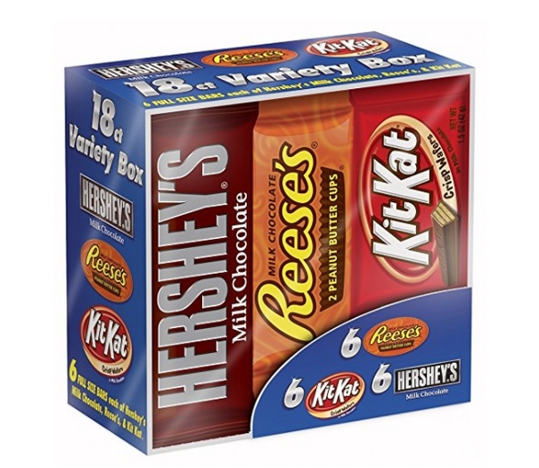Pack of 18 Hershey variety pack