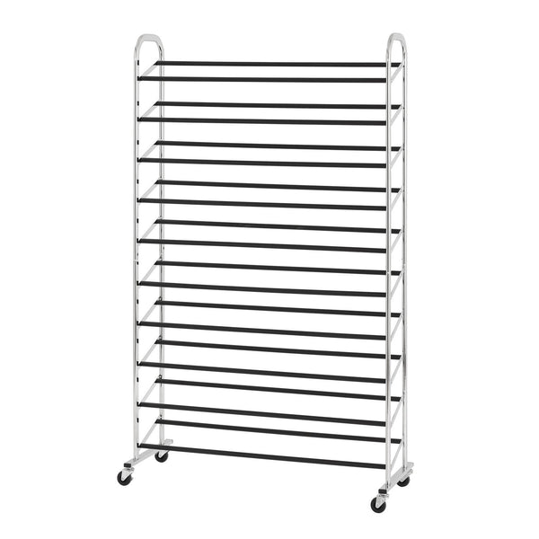 50 Pair Rolling Shoe Rack