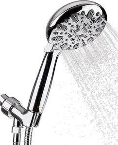 Stainless Steel Shower Head with 6 Spray Settings
