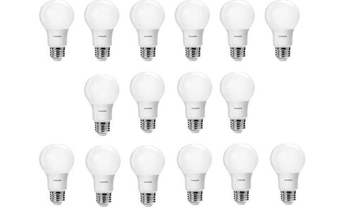 Pack of 16 LED light bulbs