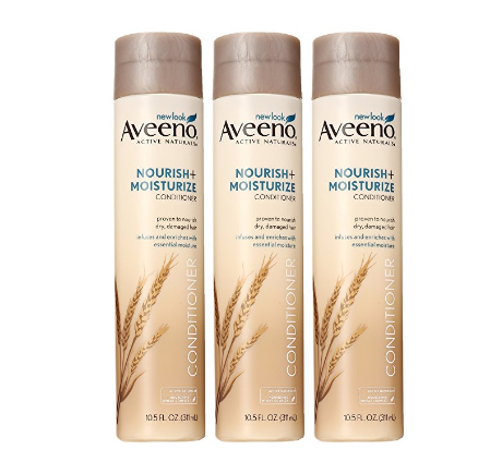Pack of 3 Aveeno Nourish + Moisturize Conditioner, 10.5 Ounce