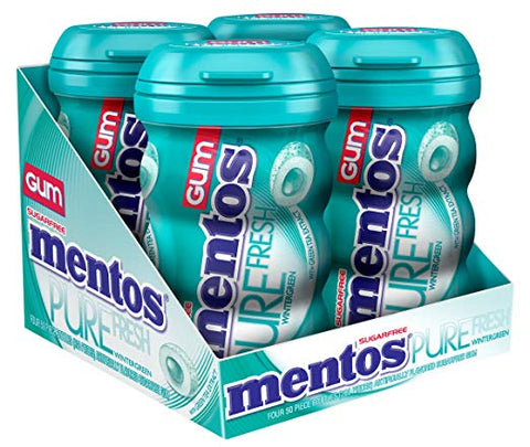 4-Pack of 50-Piece Mentos Gum (Wintergreen or Red Fruit & Lime)