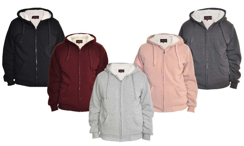 Women's Full-Zip Sherpa-Lined Hoodie Jacket. Plus Sizes Available.