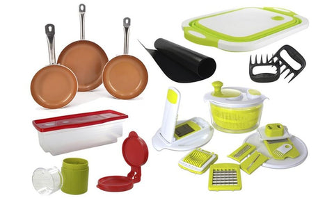Kitchen Cookware Combo Set (22-Piece)