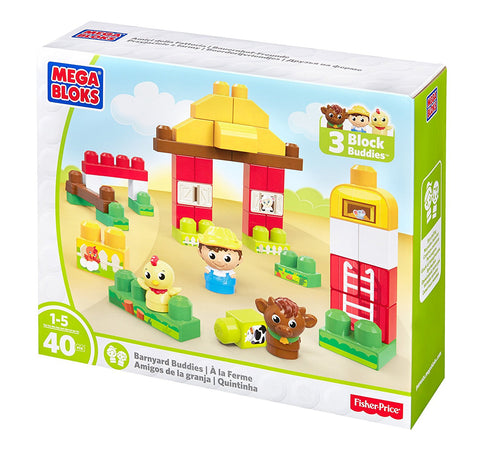 40-piece Mega Bloks Barnyard Buddies Building Set