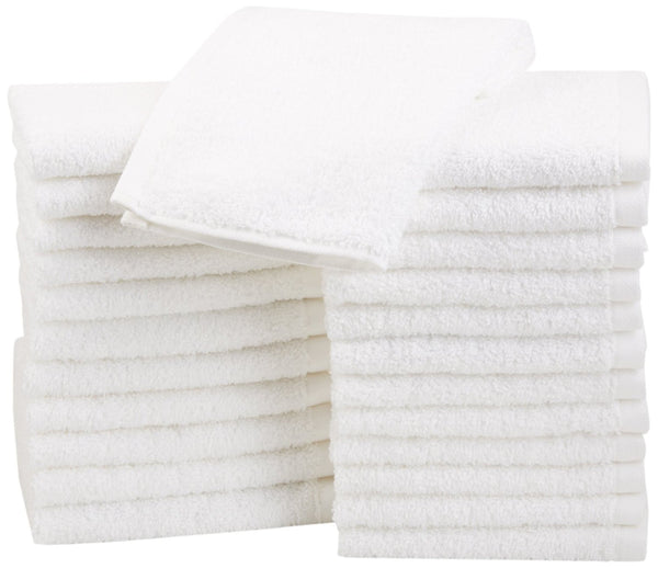 Pack of 24 Cotton Washcloths