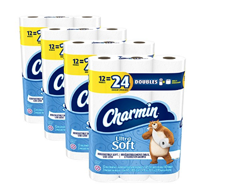 48 rolls of Charmin Ultra Soft toilet paper