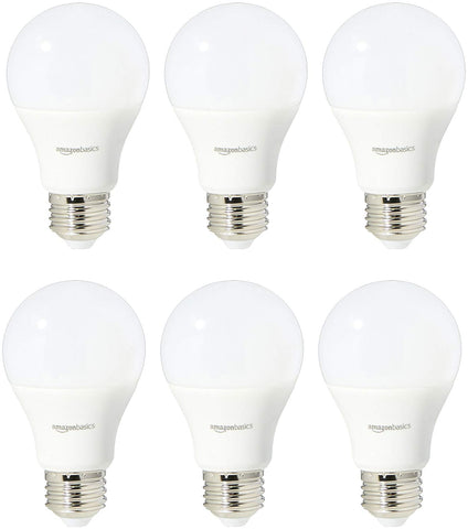 Pack of 6 AmazonBasics 60 Watt Equivalent, Daylight, Non-Dimmable LED Bulbs