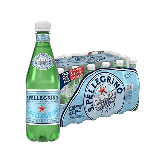 24 Bottles Of S.Pellegrino Sparkling Natural Mineral Water