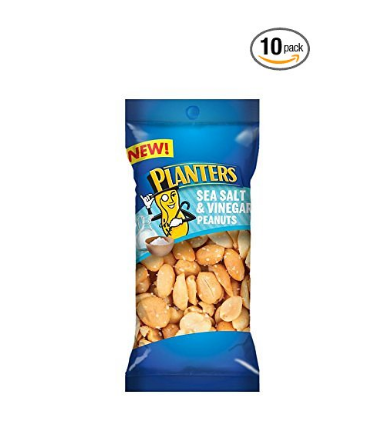 Pack of 10 Planters Flavored Peanuts