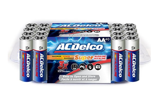 Pack of 40 ACDelco Super Alkaline AA Batteries