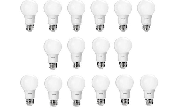 Pack of 16 Philips LED bulbs