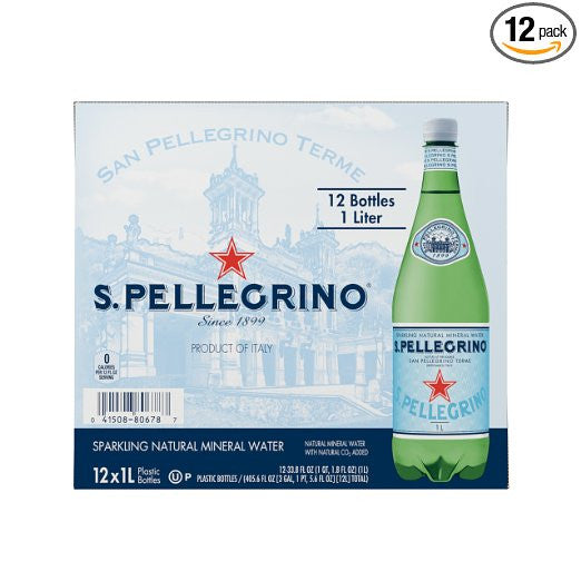 Pack of 12 San Pellegrino Sparkling Natural Water
