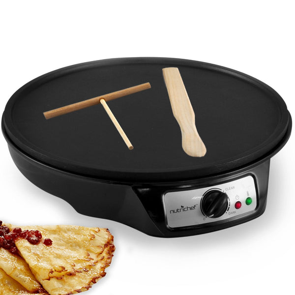 NutriChef Electric 12 Inch Griddle Griddle