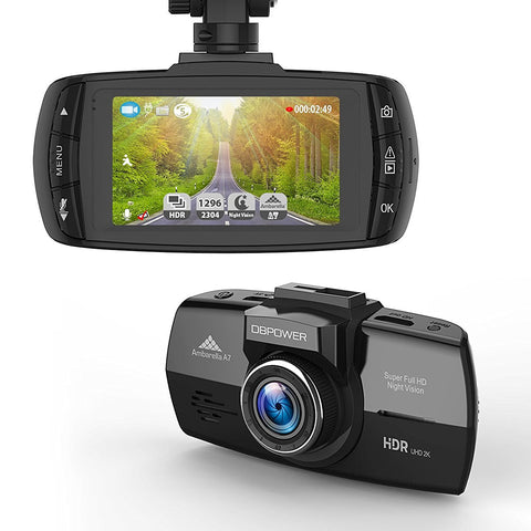 Wide angle dash cam with loop recording
