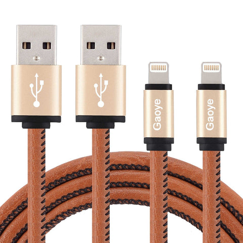 Pack of 2 braided certified lightning cables