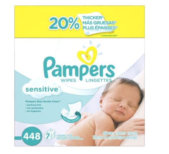 Pack of 448 Pampers Sensitive Wipes
