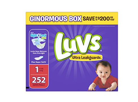 Pack of 252 Size 1 Luvs Diapers
