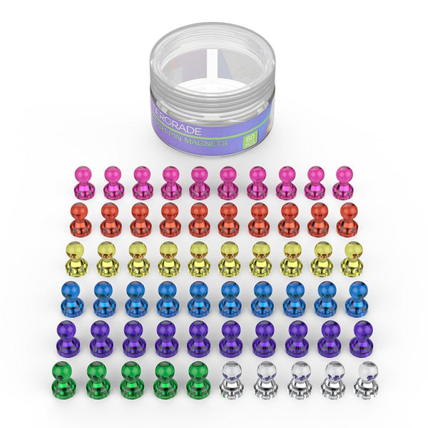 Pack of 60 push pin magnets