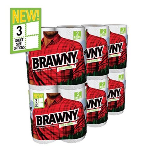 12 rolls of Brawny paper towels