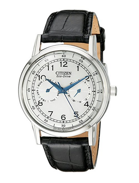Citizen Eco-Drive Watch with Leather Band