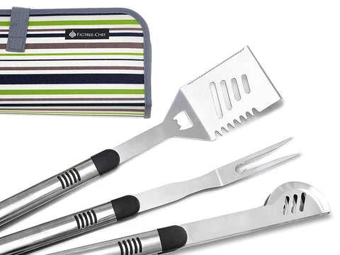Heavy duty grill tool set