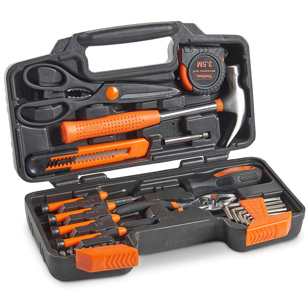39 piece tool set with toolbox
