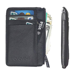 Men's Ultra-Thin Front Pocket Leather Wallet