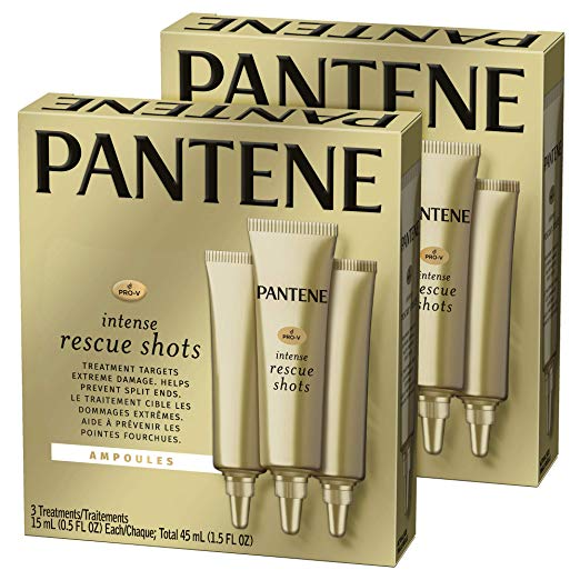 2-Pack 3-Count Pantene Rescue Shots Hair Ampoules Treatment