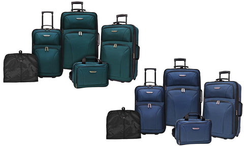 5 Piece Traveler's Choice Versatile Rolling Luggage Sets