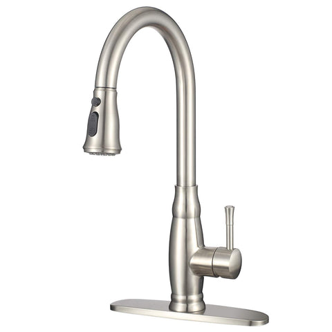 Modern Kitchen Sink Faucet with Pull Down Sprayer