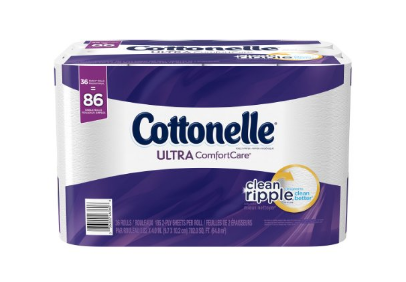 36 family rolls of Cottonelle toilet paper