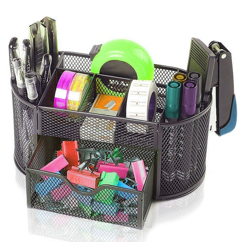 Oval Supply Caddy Desk Organizer