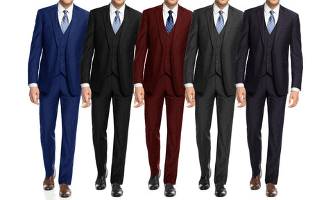 Braveman Men's 3 Piece Slim Fit Suits