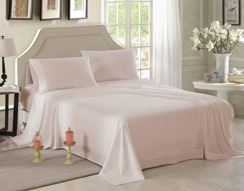 Ultra soft microfiber embroidered bed sheet set, queen